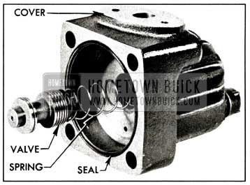 1958 Buick Pump Cover and Control Valve