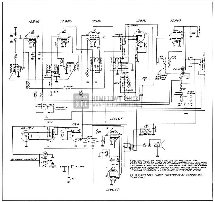 buick radio schematic