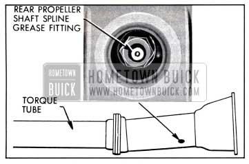 1958 Buick Rear Propeller Shaft Spline Grease Fitting