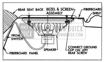 1958 Buick Rear Seat Speaker