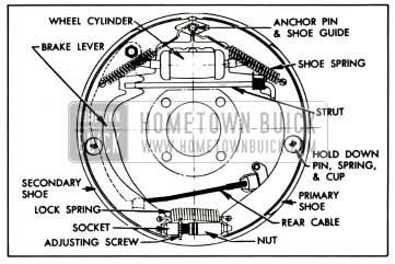 1958 Buick Rear Wheel Brakes Assembly-Right
