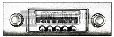 1958 Buick Receiver Controls-Wonderbar Radio
