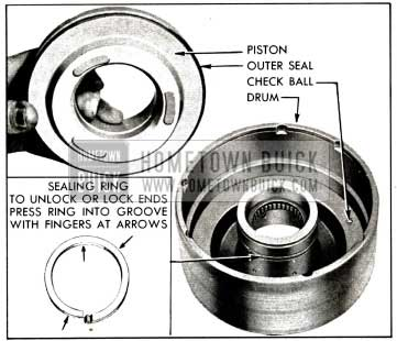 1958 Buick Removal of Clutch Piston and Oil Sealing Ring