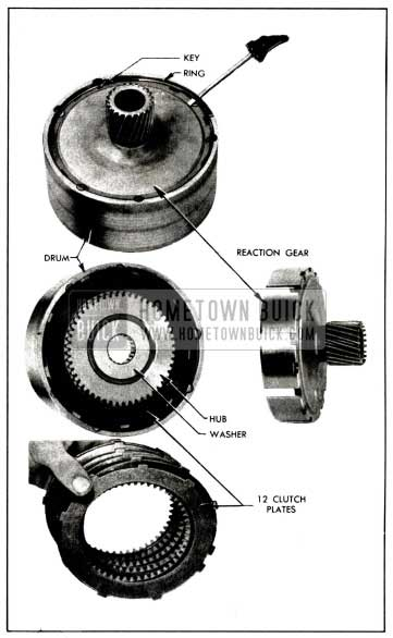 1958 Buick Removal of Reaction Gear, Hub, and Plates