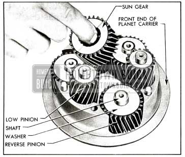 1958 Buick Removal of Sun Gear and Planet Pinions