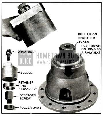 1958 Buick Removing Differential Bearing Outer Race