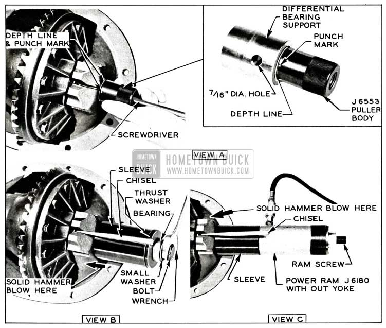 1958 Buick Removing Differential Bearing Support