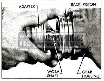 1958 Buick Removing Rack-Piston and Worm Assembly