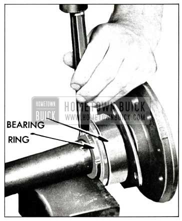 1958 Buick Removing Rear Wheel Bearing Retainer Ring