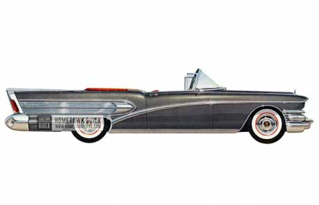 1958 Buick Roadmaster Convertible - Model 75C HB
