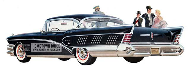 1958 Buick Roadmaster Limited Riviera - Model 750