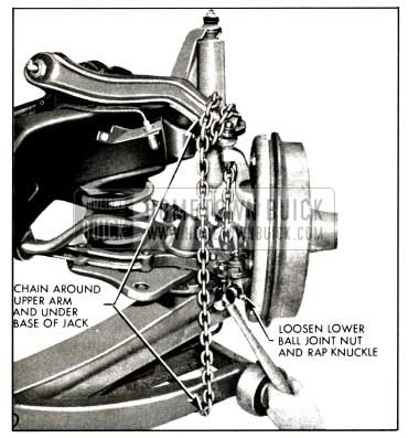 1958 Buick Separating Lower Ball Joint and Steering Knuckle