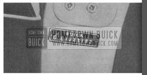 1958 Buick Serial Number Location