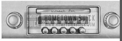 1958 Buick Wonderbar Radio