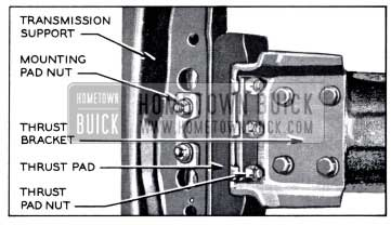 1958 Buick Synchromesh and Variable Pitch Dynaflow Transmission Mounting-Bottom View