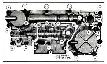1958 Buick Valve and Servo Body Bolt Tightening Sequence