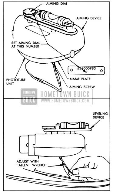 1958 buick lighting system hometown buick Power Booster Diagram with Parts Labeled 1958 buick vertical aiming