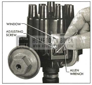 1959 Buick Adjusting Contact Point Dwell Angle
