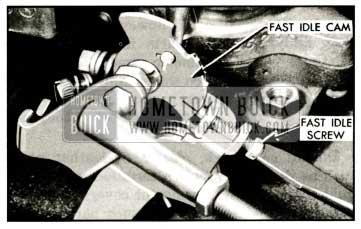 1959 Buick Adjusting Fast Idle Speed on Engine