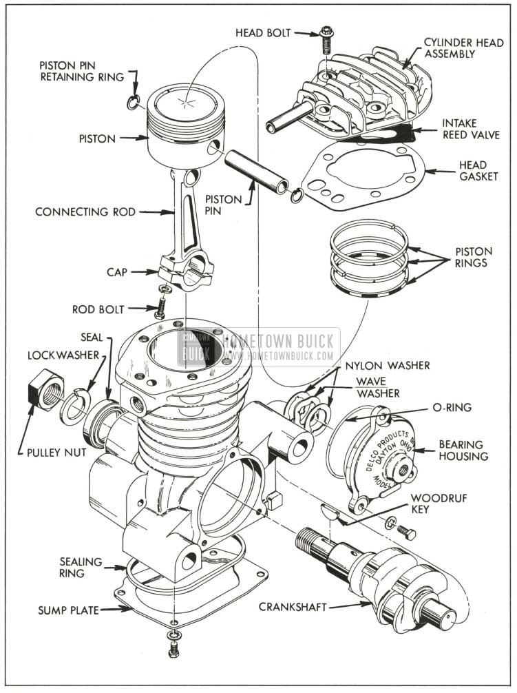 Buick Air Compressor Exploded View