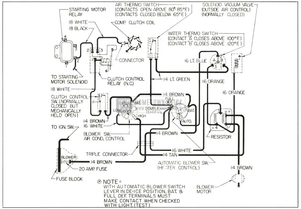 1959 buick wiring diagrams hometown buick 1959 buick air conditioning and automatic heater wiring diagram