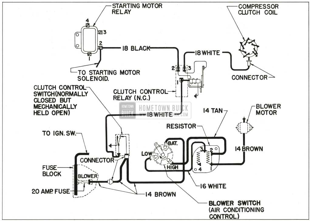 1959 buick air conditioning only wiring diagram 1959 buick wiring diagrams hometown buick wiring diagram for air conditioner at gsmx.co