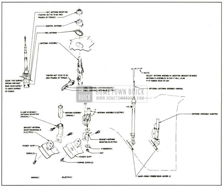 1959 Buick Antenna Installation Details