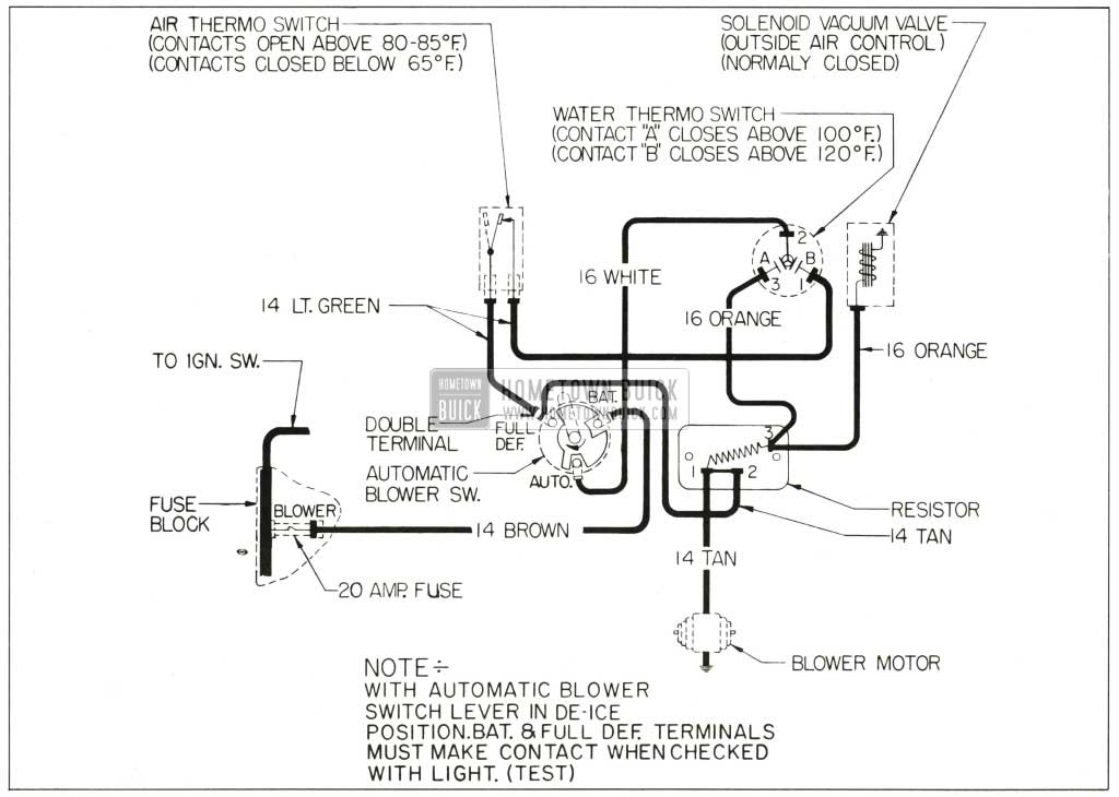 for an ac heater wiring diagram 1959 buick heater and air conditioner - hometown buick map for 89 jeep heater wiring #15