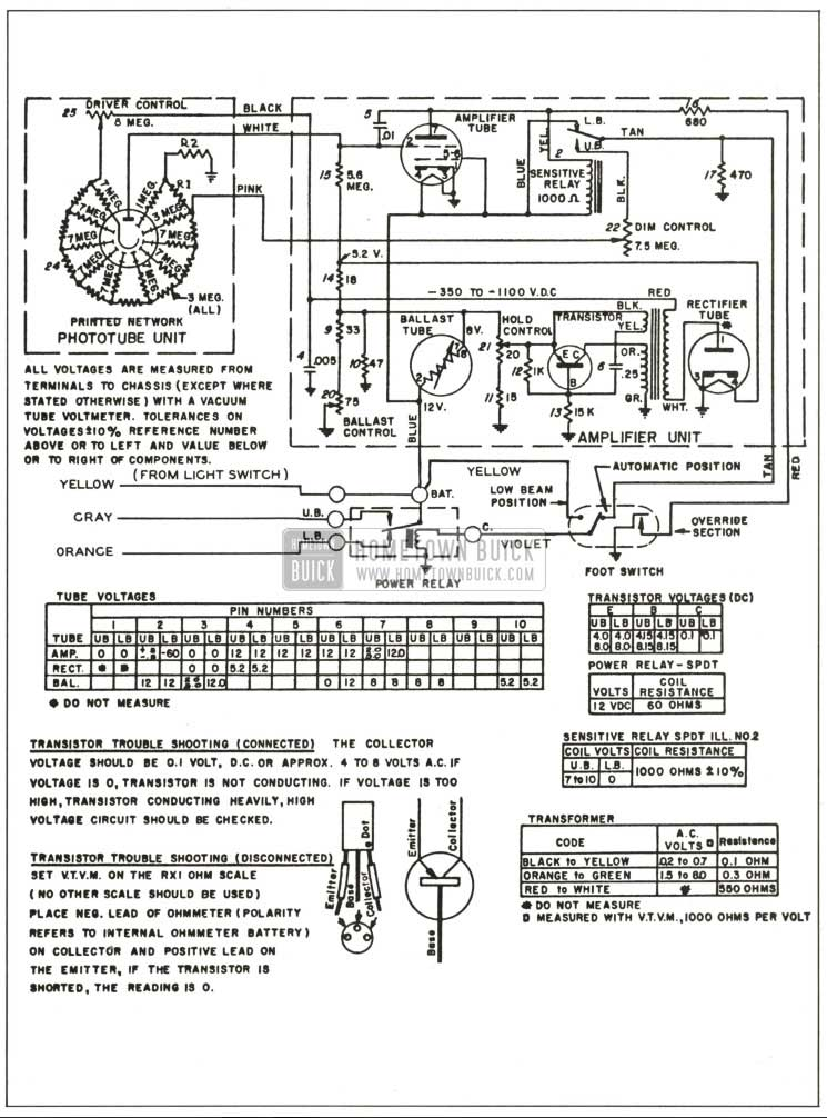 1959 Buick Autronic-Eye Schematic