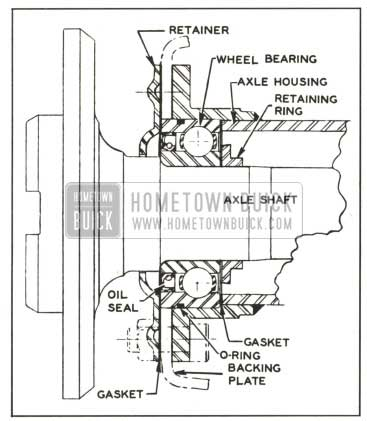 1959 Buick Axle Shaft and Bearing Assembly