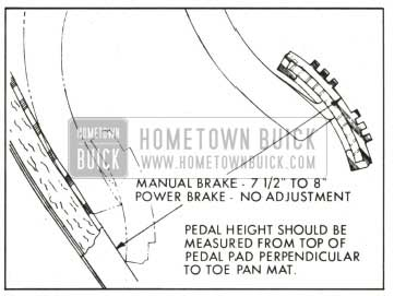 1959 Buick Brake Pedal Height Adjustment