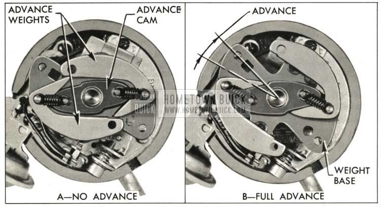 1959 Buick Centrifugal Advance Mechanism