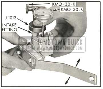 1959 Buick Checking Intake Core Travel