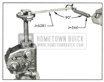 1959 Buick Checking Thrust Bearing or Lash Adjustment with Scale