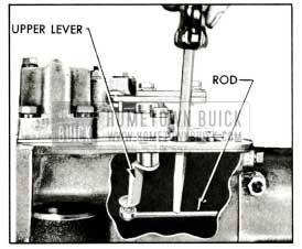 1959 Buick Disconnecting Valve Operating Rod from Upper Lever