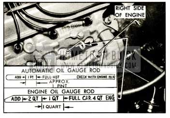 1959 Buick Engine and Automatic Transmission Oil Gauge Rods