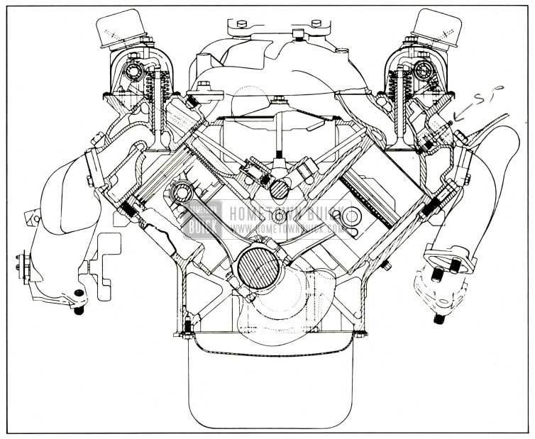1959 Buick Engine End Sectional View