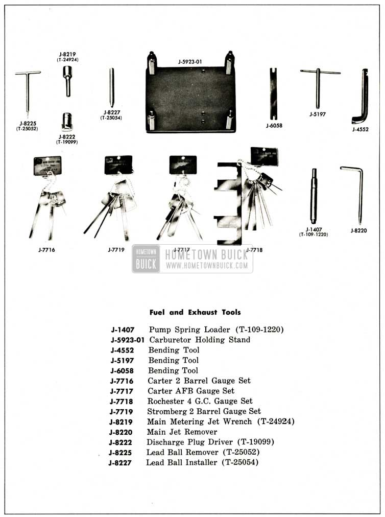 1959 Buick Fuel and Exhaust Special Tools