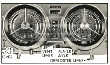 1959 Buick Heater Defroster and Ventilation Controls