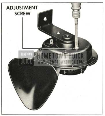 1959 Buick Horn Current Draw Adjustment