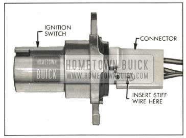 1959 Buick Ignition Switch and Connector-Top View