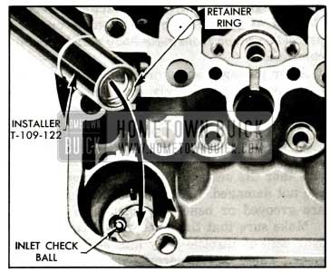 1959 Buick Installing Inlet Check Ball Retainer