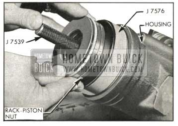 1959 Buick Installing Rack-Piston Nut in Housing