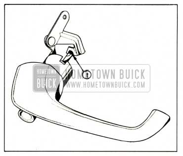 1959 Buick Lubrication of Door Outside Handle
