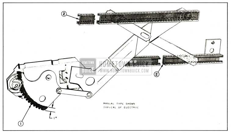 1959 Buick Lubrication of Front and Rear Door Window Regulator and Channels