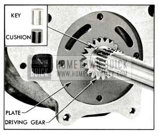 1959 Buick Oil Pump Driving Gear and Key Installed