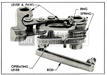 1959 Buick Parking Lock Pawl and Lever Assembly