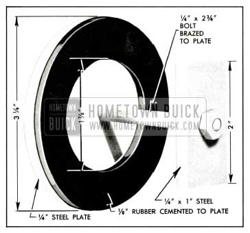 1959 Buick Plate and Washer for Pump Test