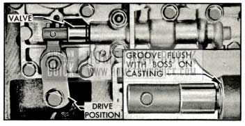 1959 Buick Position of Control Valve in Direct Drive Range