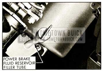 1959 Buick Power Brake Fluid Reservoir Filler Tube